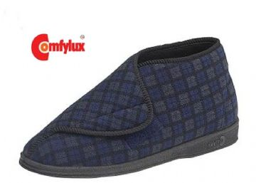 Men'sComfylux 'JAMES' wide fitting Touch & Close Boot Slippers